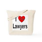 I Love Lawyers Tote Bag