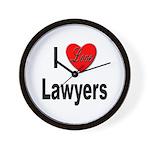 I Love Lawyers Wall Clock