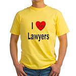 I Love Lawyers Yellow T-Shirt