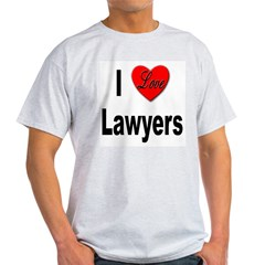 I Love Lawyers Ash Grey T-Shirt