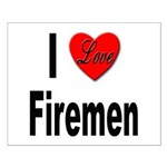 I Love Firemen Small Poster
