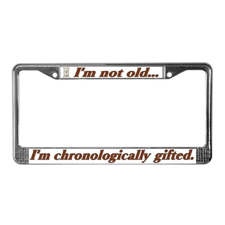 Not Old License Plate Frame
