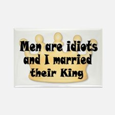 Men Are Idiots Rectangle Magnet (10 pack)