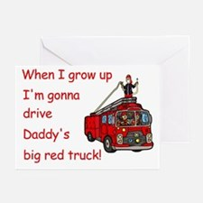 Daddy's Fire Truck Cards (Pk of 20)