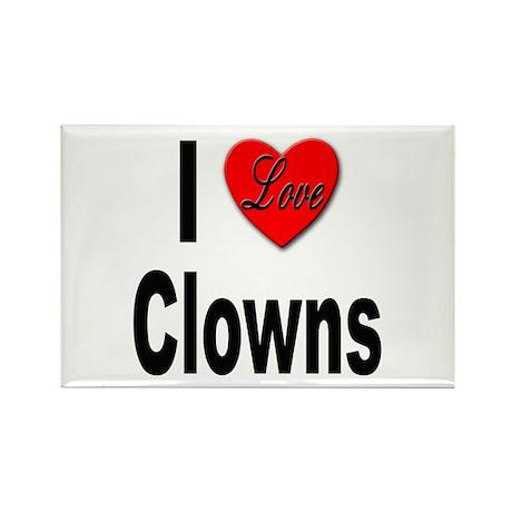 I Love Clowns Rectangle Magnet (10 pack)