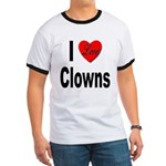 I Love Clowns (Front) Ringer T