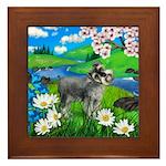 SCHNAUZER DOG SPRING RIVER Framed Tile
