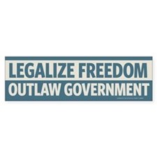 Legalize Freedom Bumper Bumper Sticker