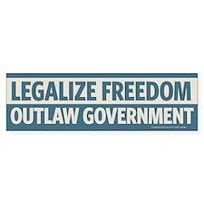 Legalize Freedom Bumper Car Sticker