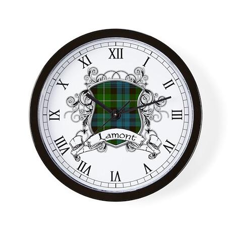 Lamont Tartan Shield Wall Clock
