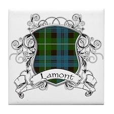 Lamont Tartan Shield Tile Coaster