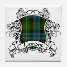 Lamont Tartan Shield Tile Coaster