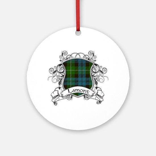 Lamont Tartan Shield Ornament (Round)