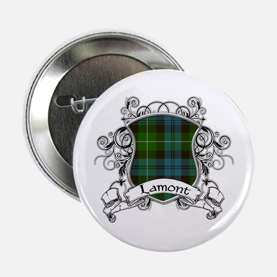 "Lamont Tartan Shield 2.25"" Button"