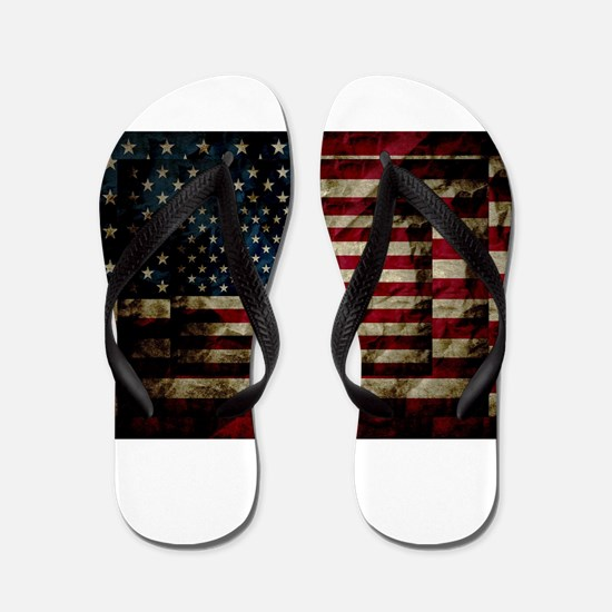 American Leather Flag Flip Flops