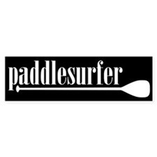 Paddlesurfer Black Bumper Bumper Sticker