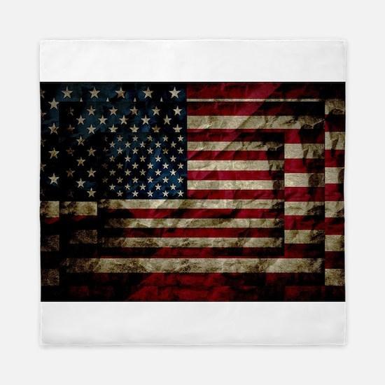 American Leather Flag Queen Duvet