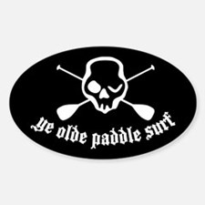 Ye Olde Paddle Surf Black Oval Decal