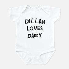 Dillan loves daddy Infant Bodysuit