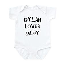 Dylan loves daddy Infant Bodysuit