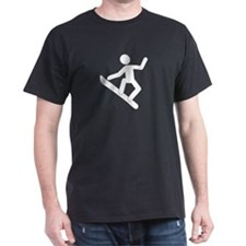 """Snowboarder"" - Black T-Shirt"