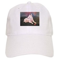 """Red Ball 2"" a Bull Terrier Baseball Cap"