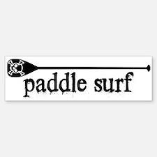 Paddle Surf Skull Bumper Bumper Bumper Sticker