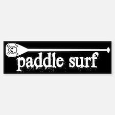 Paddle Surf Skull Black Bumper Bumper Bumper Sticker