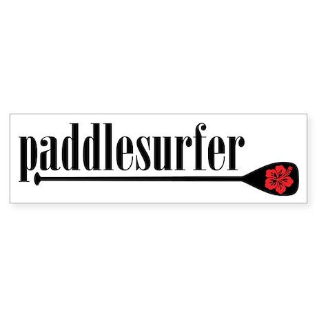 Paddlesurfer Hibiscus Bumper Sticker