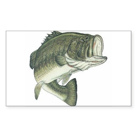 Large Mouth Bass Rectangle Sticker