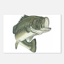 Large Mouth Bass Postcards (Package of 8)