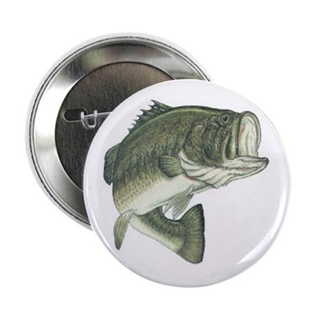 "Large Mouth Bass 2.25"" Button (10 pack)"