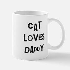 Cat loves daddy Mug