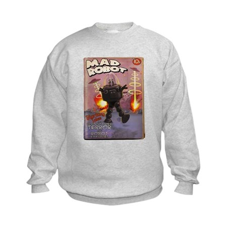 Mad Robot Fake Pulp Cover Kids Sweatshirt