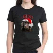 Chocolate Lab Christmas Puppy Tee