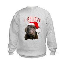 Chocolate Lab Christmas Puppy Sweatshirt