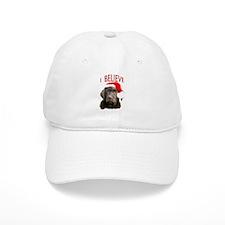 Chocolate Lab Christmas Puppy Baseball Cap