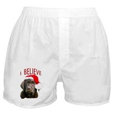 Chocolate Lab Christmas Puppy Boxer Shorts