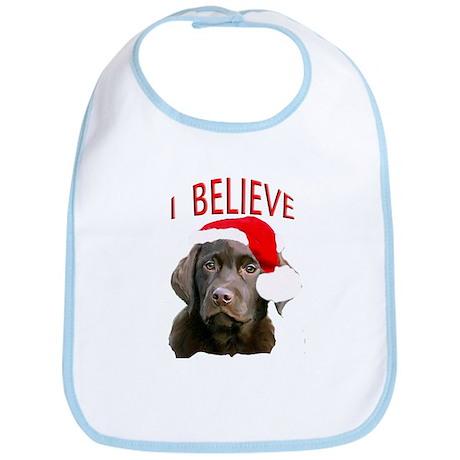 Chocolate Lab Christmas Puppy Bib