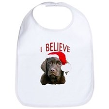 Chocolate Lab Christmas Puppy Bib