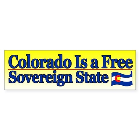 Colorado is Sovereign Bumper Sticker