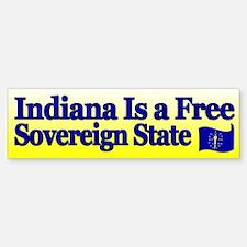 Indiana Is Sovereign Bumper Bumper Bumper Sticker