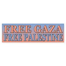 Free Palestine Free Gaza Bumper Bumper Sticker