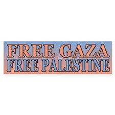 Free Palestine Free Gaza Bumper Car Sticker