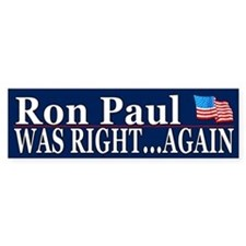 Ron Paul was right again