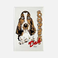 Basset dad Rectangle Magnet (100 pack)