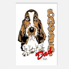 Basset dad Postcards (Package of 8)