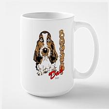 Basset dad Large Mug
