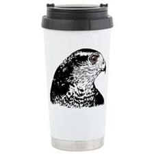 Goshawk B/W Travel Mug