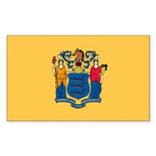 New Jersey State Flag Rectangle Decal